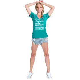 Mons Royale Scoop t-shirt Dames turquoise